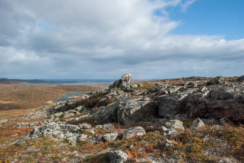 秋天在芬兰拉普兰 免版税库存图片