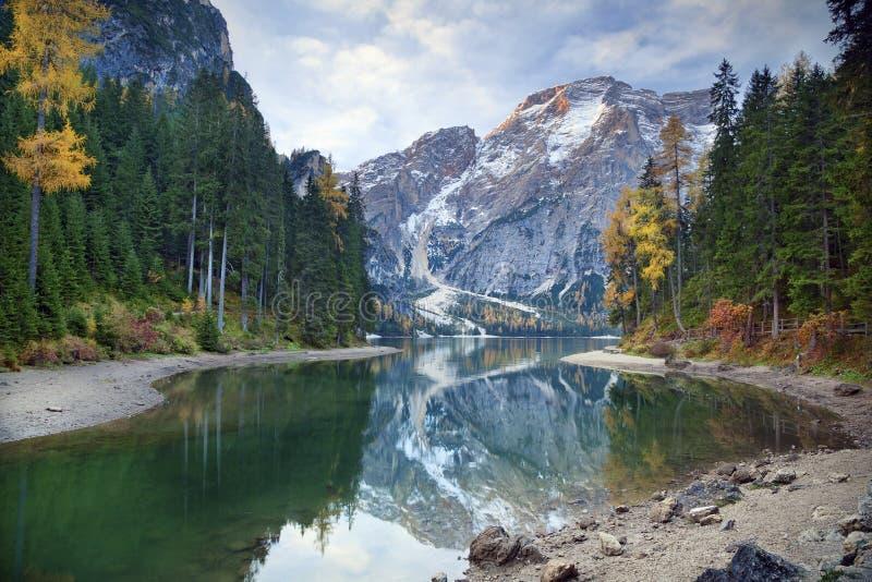 秋天在阿尔卑斯 免版税库存照片