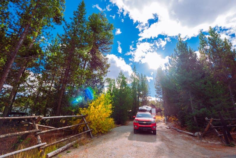 秋天大蒂顿国家公园,美国 免版税库存照片