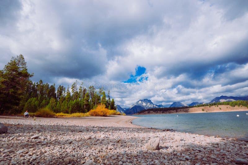 秋天大蒂顿国家公园 免版税图库摄影