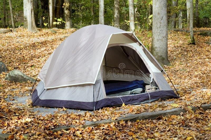 秋天帐篷 库存照片