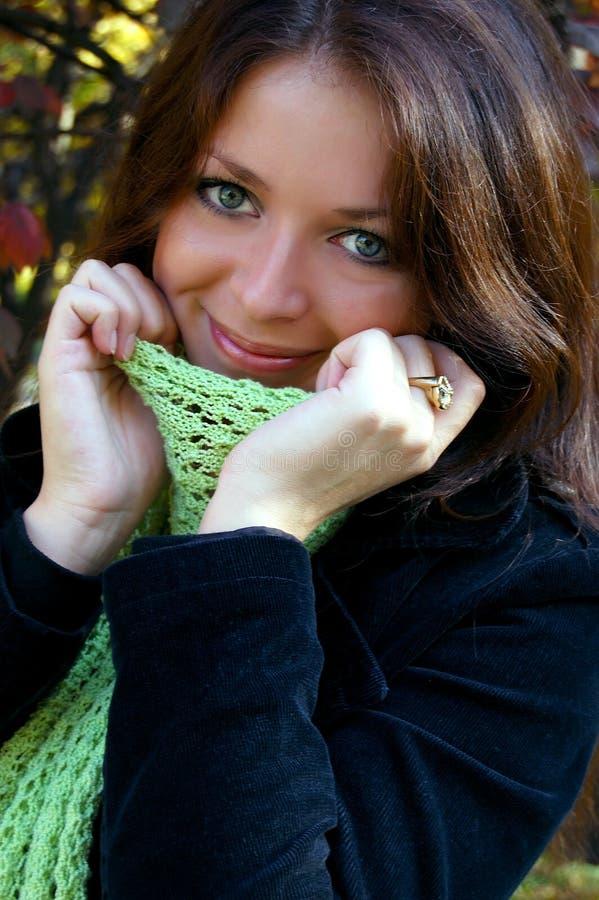 秋天微笑 库存图片