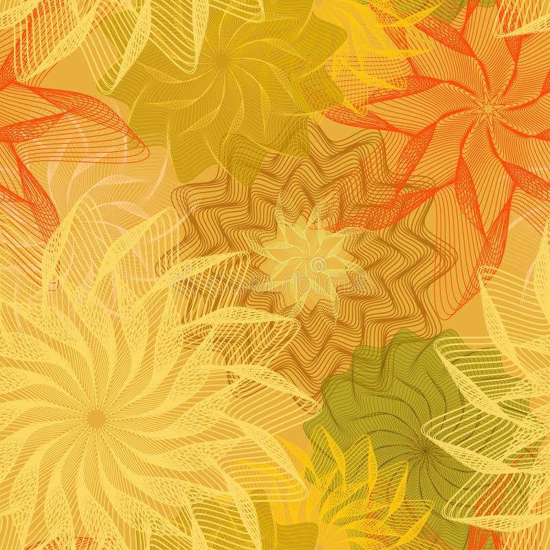 秋天抽象无缝的背景 库存例证