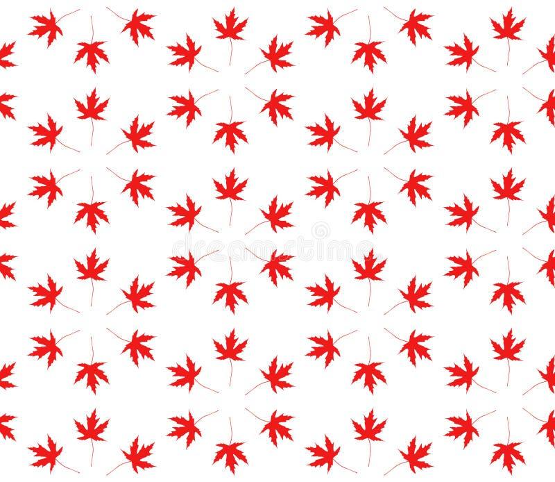 秋天无缝叶子的模式 库存例证