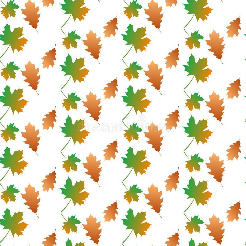 秋天无缝叶子的模式 皇族释放例证