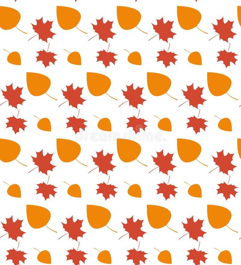 秋天无缝叶子的模式 向量例证