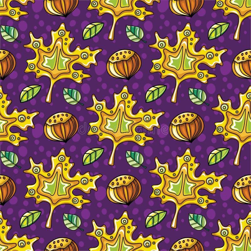 秋天无缝的样式系列 库存例证