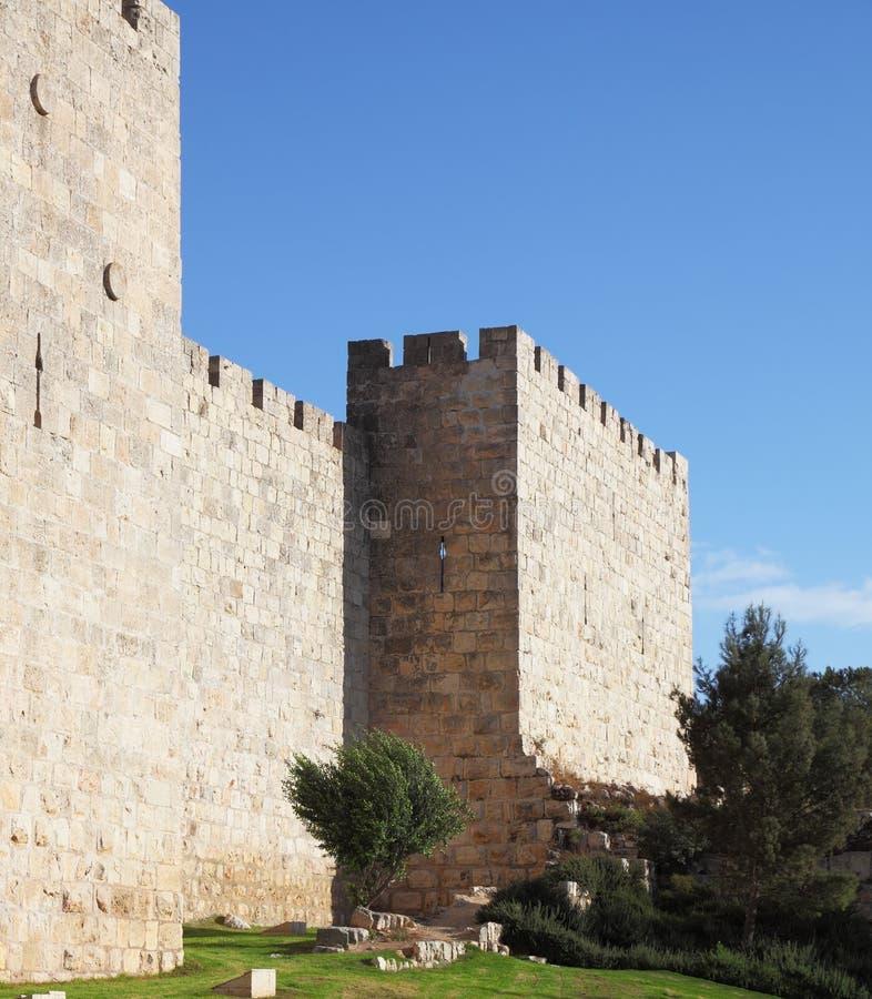 秋天日平静的耶路撒冷 免版税库存照片