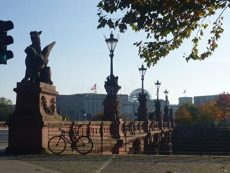 秋天早晨在柏林 免版税库存图片