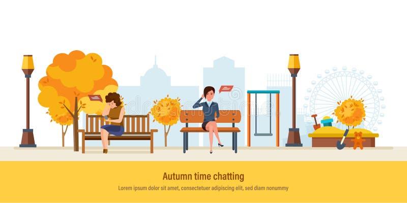 秋天时间 秋天城市公园 女孩公园休息图片