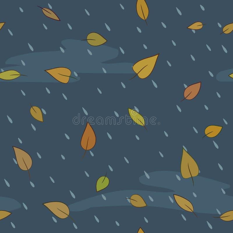 秋天模式无缝的向量 免版税库存照片