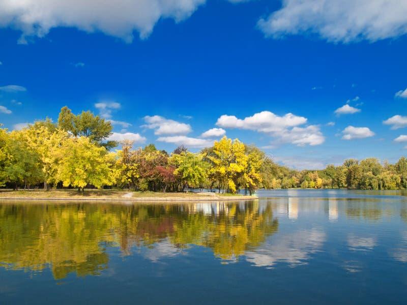 秋天横向 免版税库存照片