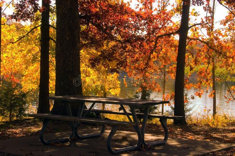 Download 秋天湖 库存照片. 图片 包括有 影子, 自治权, 颜色, 野餐, 本质, 结构树, 叶子, 季节, beauvoir - 326416