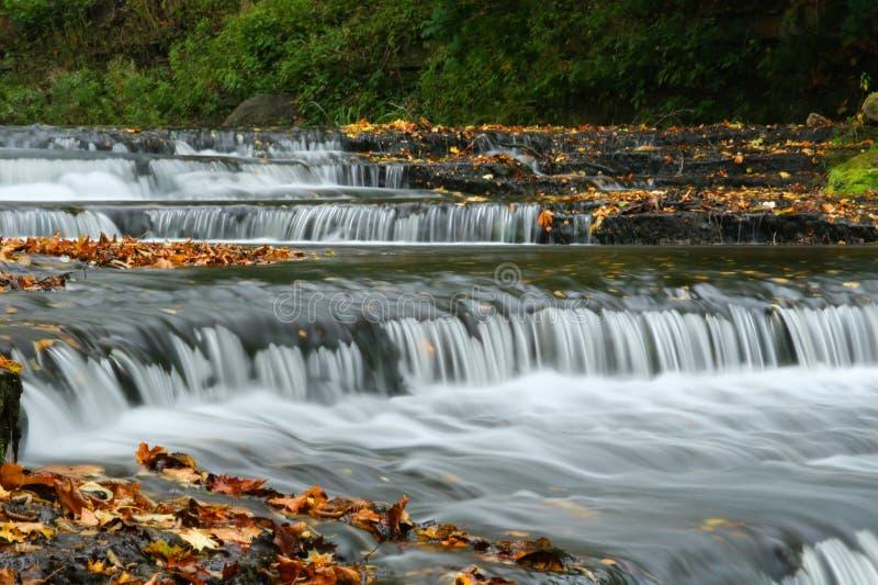 秋天瀑布在爱沙尼亚 库存图片