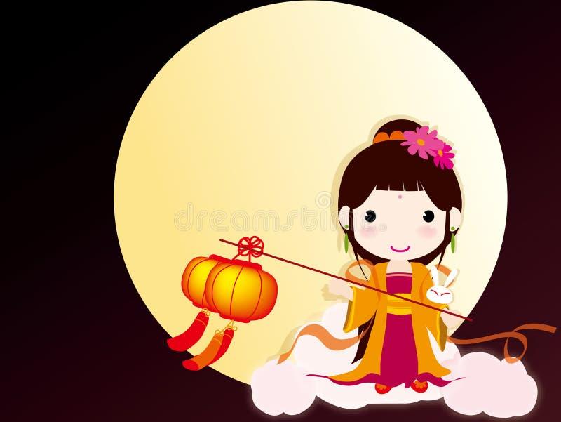 秋天瓷节日中间传统 向量例证