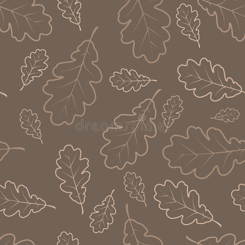 秋天生叶橡木纹理 库存例证