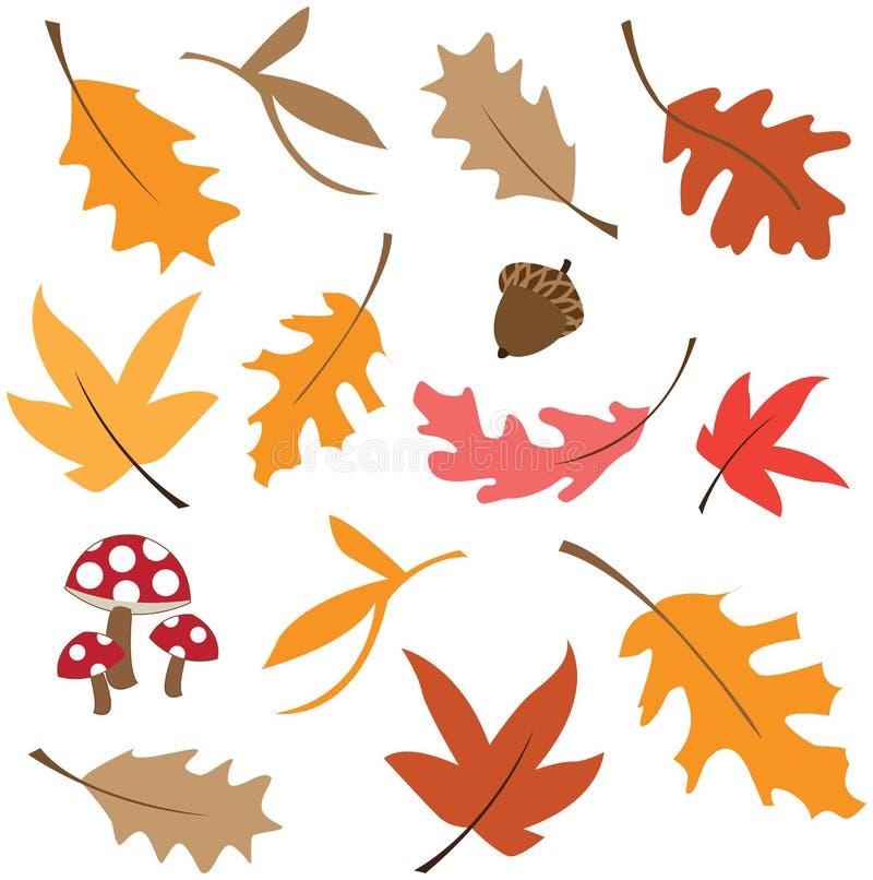 秋天留给自然纹理充满活力 向量例证