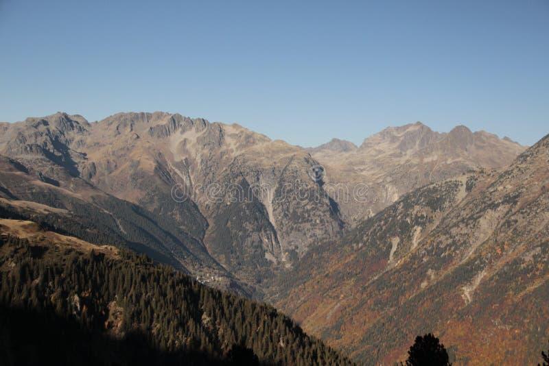 秋天的颜色在山的 库存照片