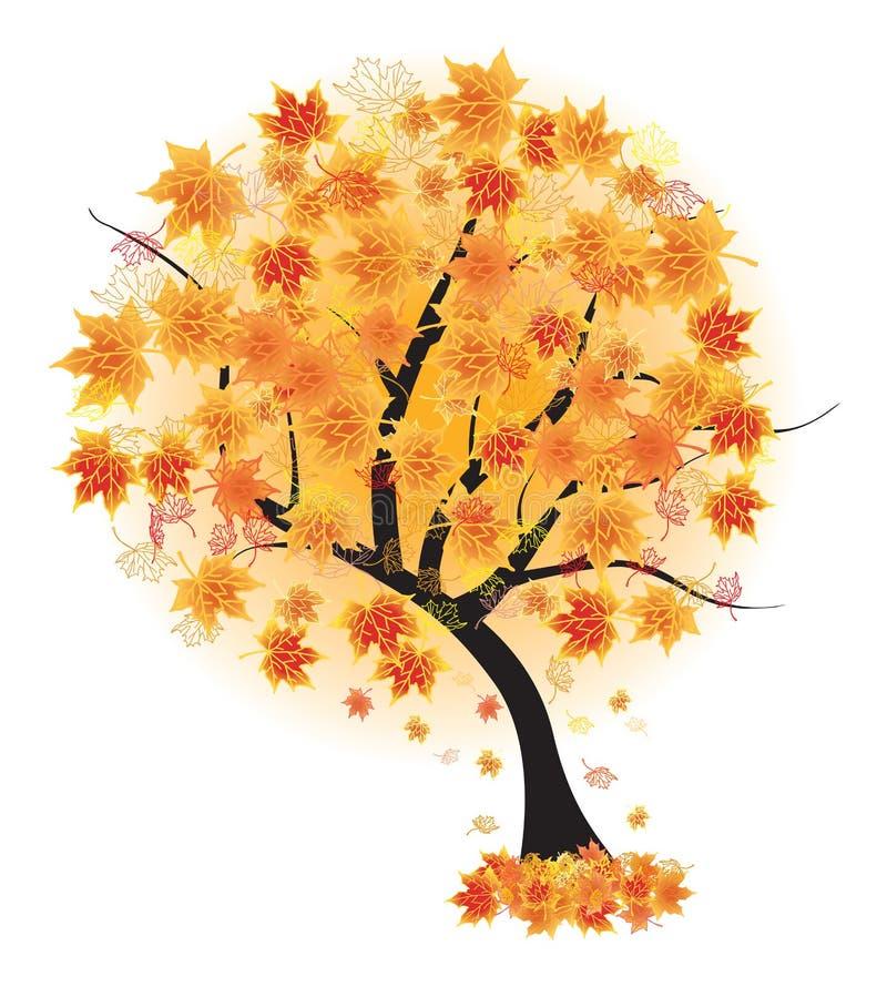 秋天秋天illustr叶子槭树向量 库存例证
