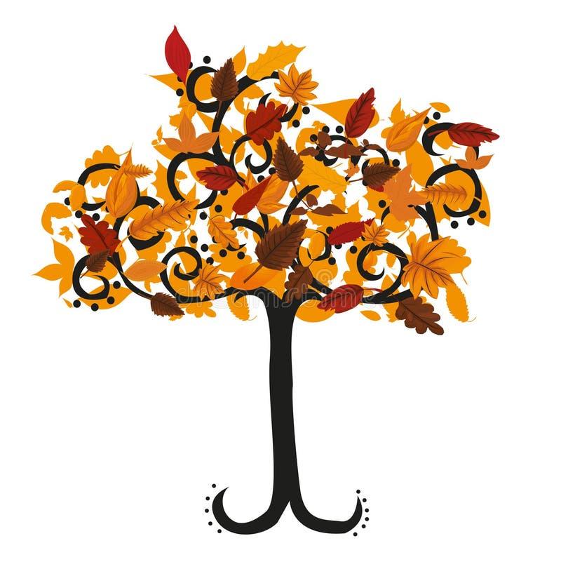 秋天结构树例证 向量例证