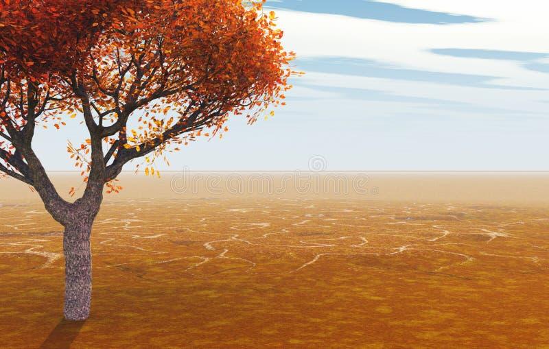 秋天结构树 库存例证