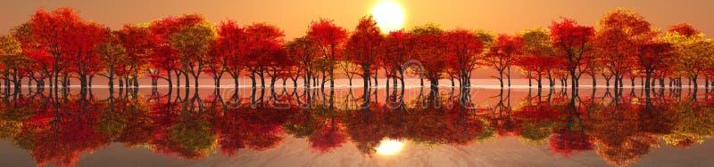 秋天美好的横向 免版税库存照片