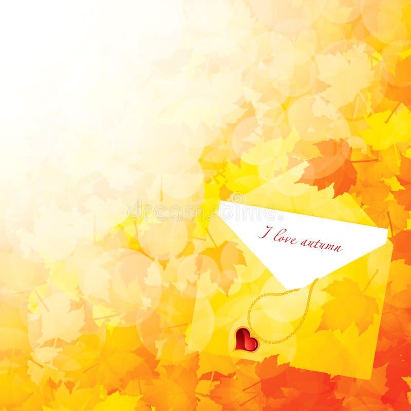 秋天背景叶子 向量例证
