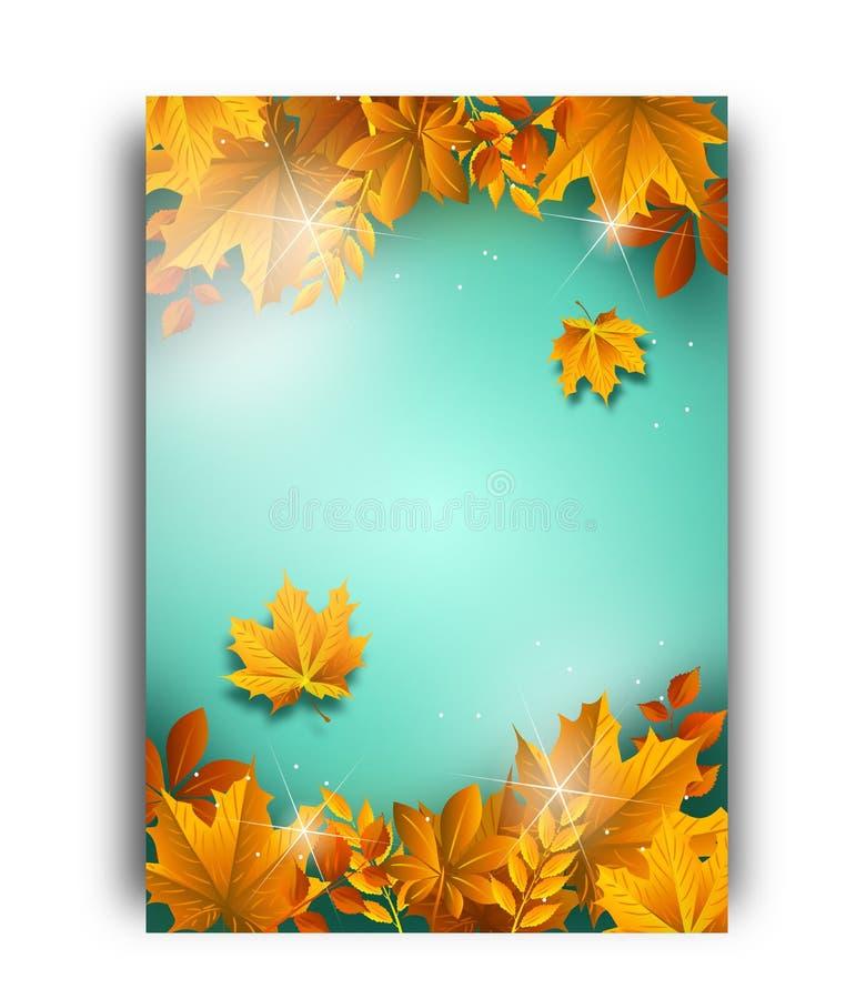 秋天背景模板 库存例证