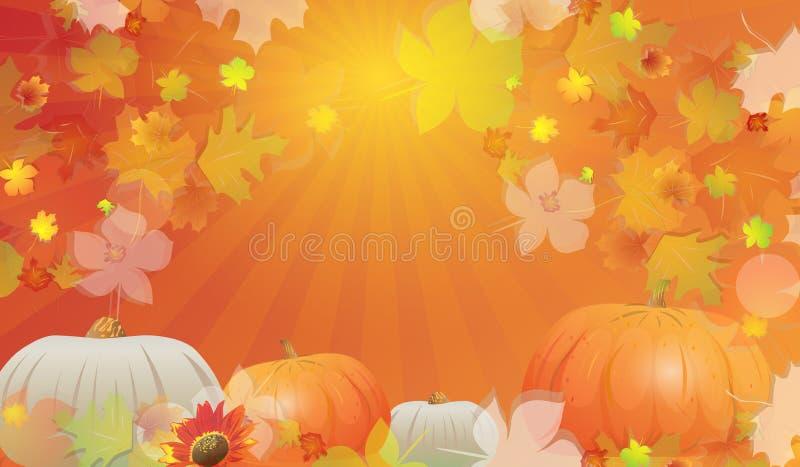 秋天背景特写镜头上色常春藤叶子橙红 库存例证