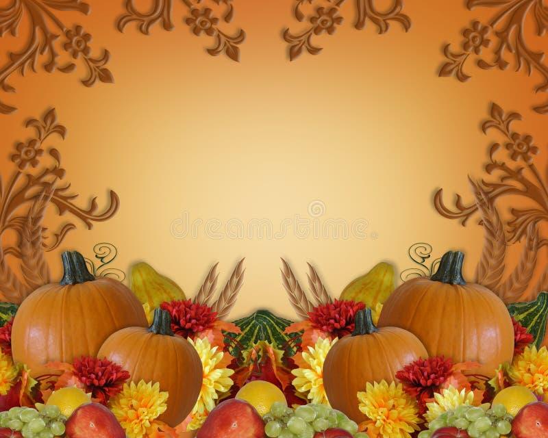 秋天背景秋天感恩 向量例证