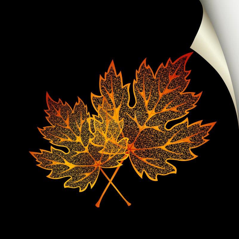 秋天背景 向量例证