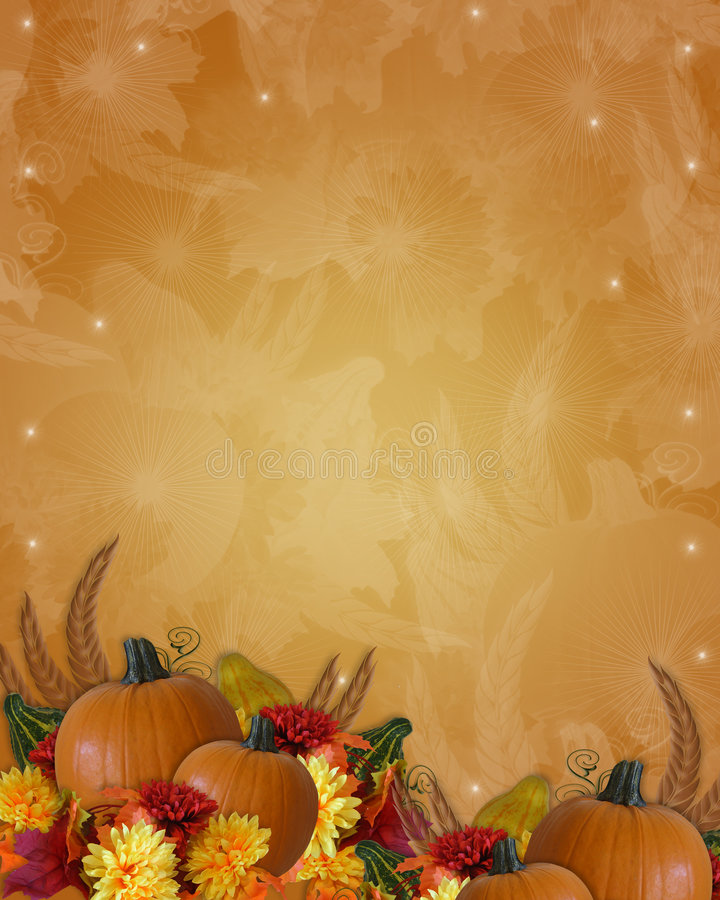 秋天边界秋天感恩 向量例证