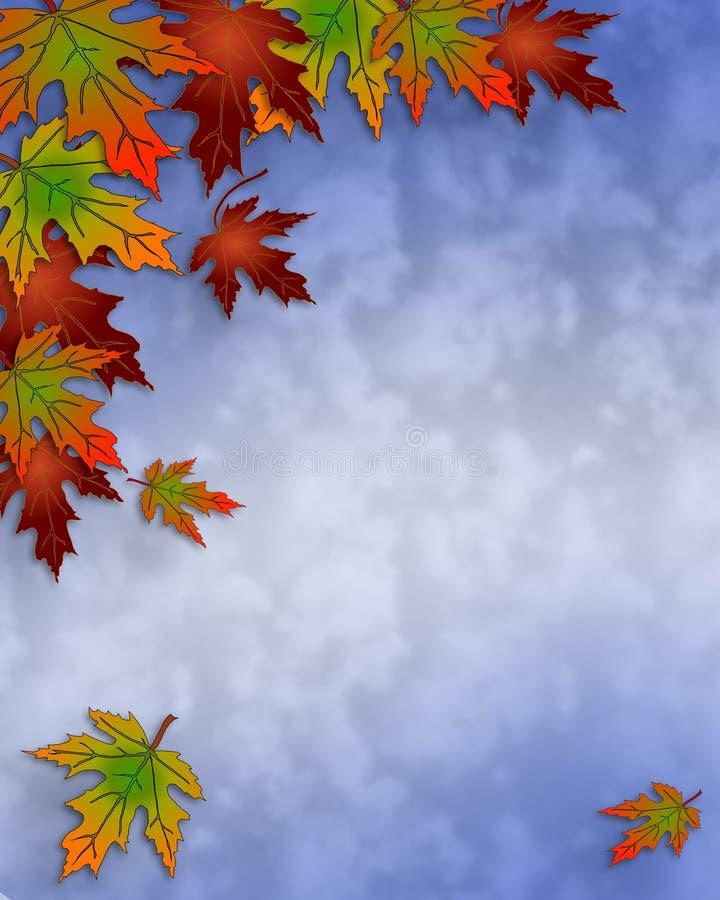 秋天边界秋天留下天空 向量例证