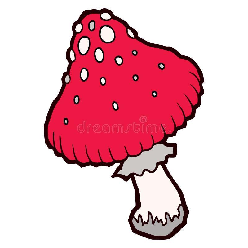 秋天醇厚的伞形毒蕈蘑菇 皇族释放例证