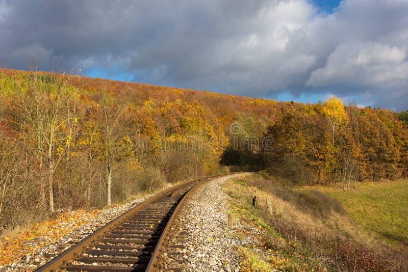 秋天铁路 库存图片