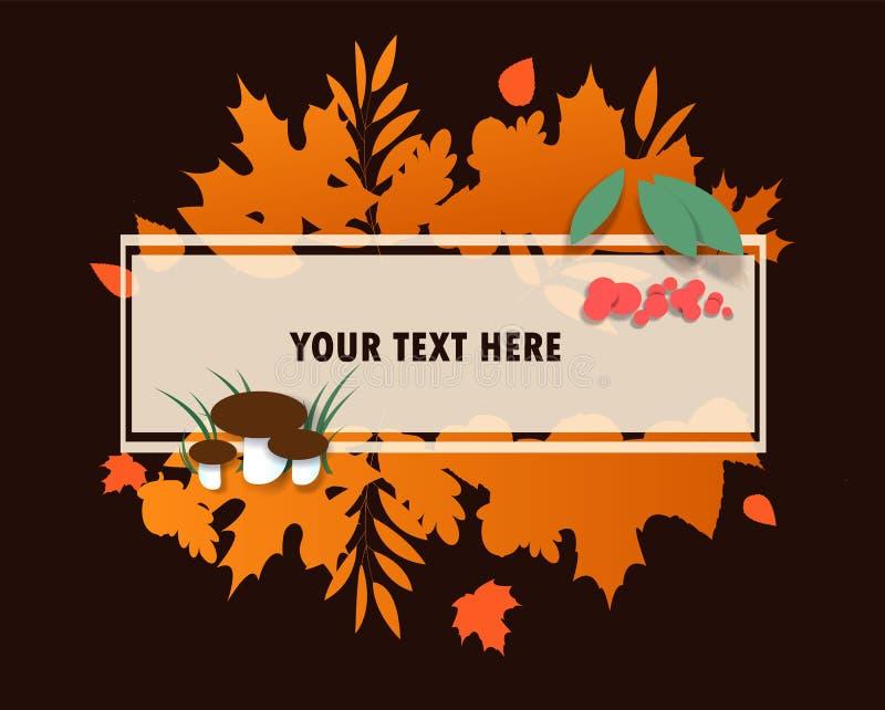 秋天销售和你好秋天传染媒介设计套海报和背景图片