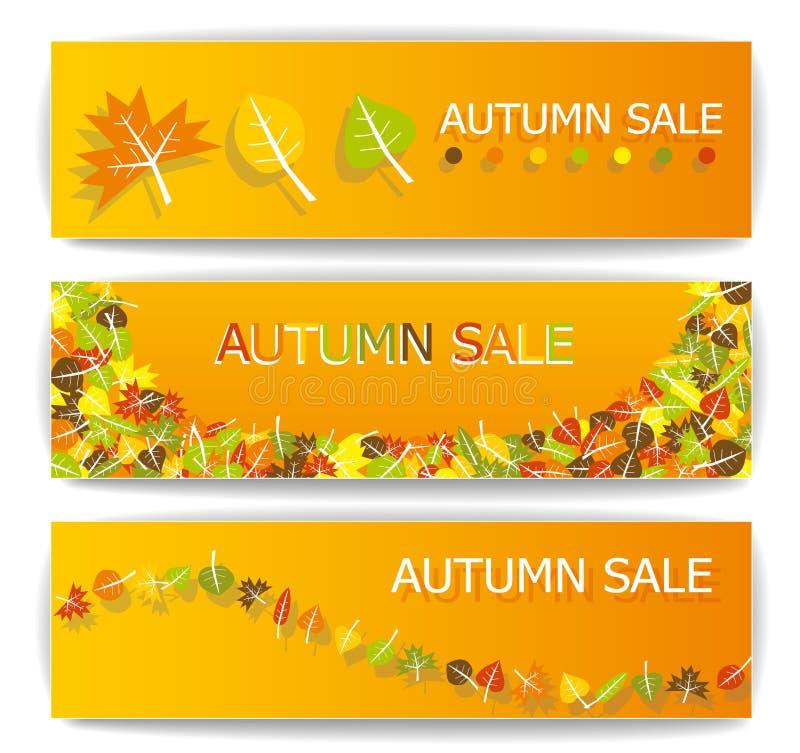 秋天销售横幅 向量例证