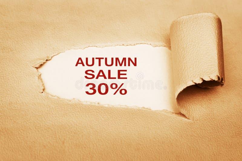 秋天销售百分之三十 免版税库存图片
