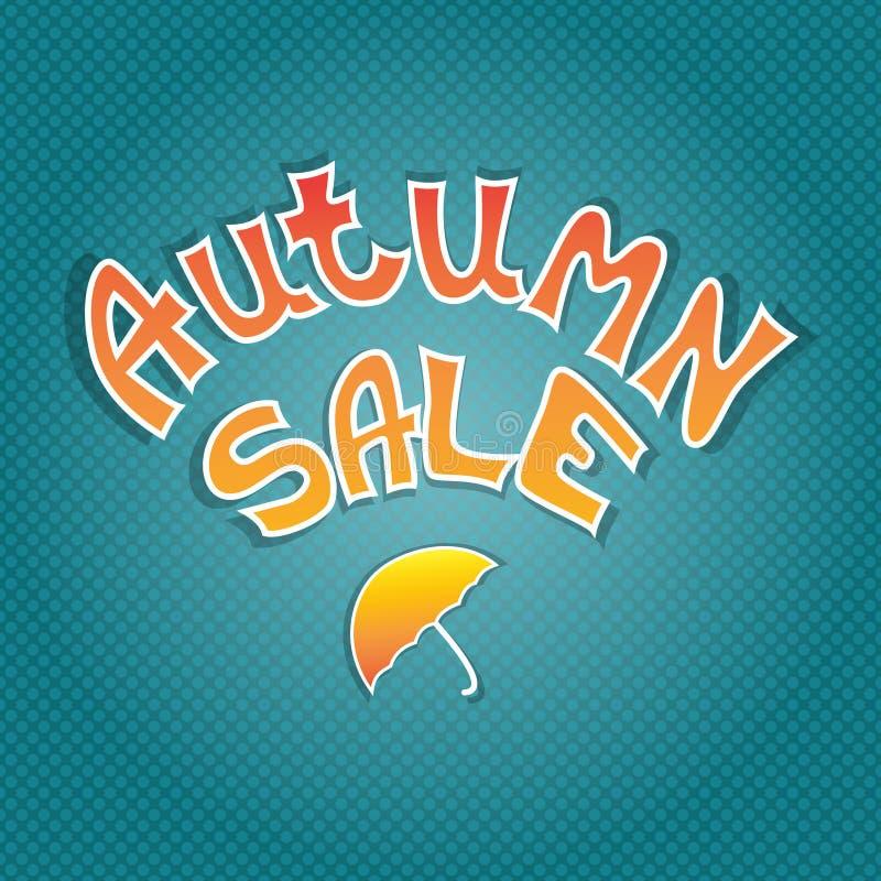 秋天销售象 秋天特殊的拍卖印刷术海报 向量例证