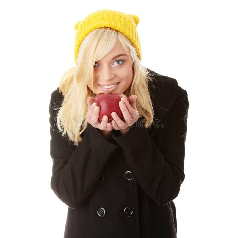 秋天青少年的妇女 免版税库存照片