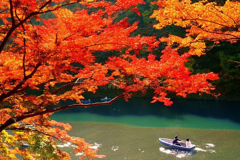 秋天颜色在京都 免版税库存图片