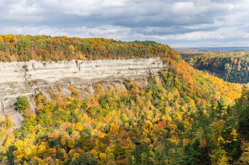 秋天颜色在大本德发光 免版税图库摄影