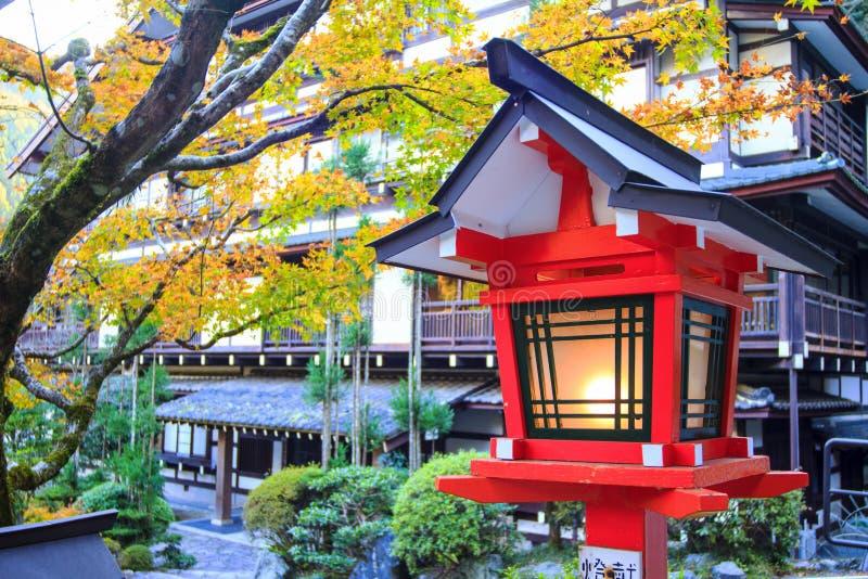 秋天颜色在日本,美丽的秋叶 免版税图库摄影