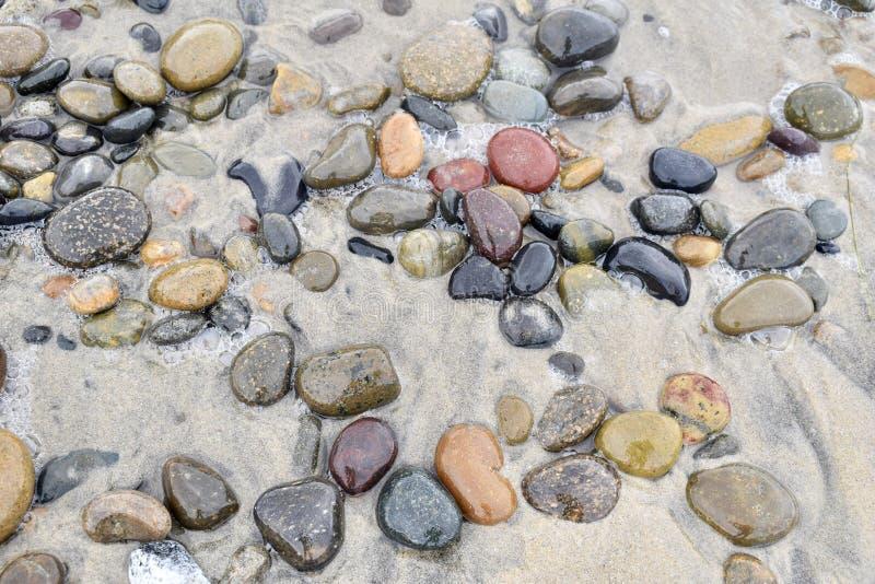 秋天颜色跳的石头  库存照片