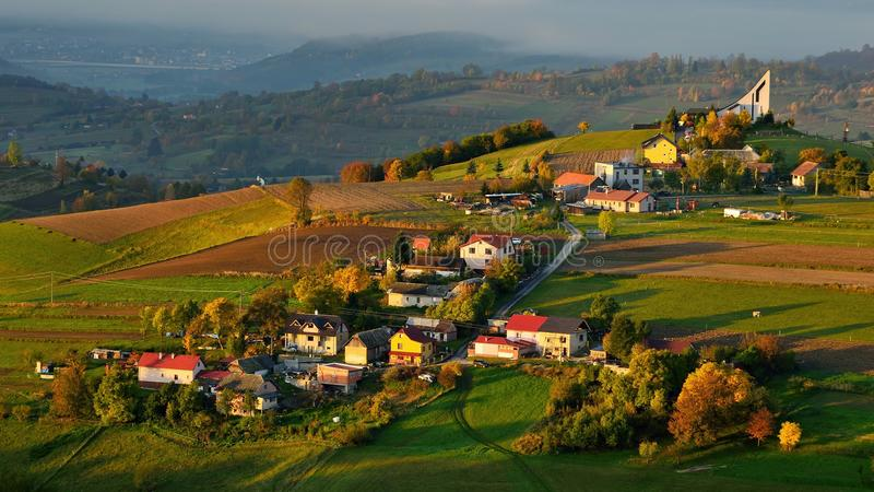 秋天风景在斯洛伐克 库存图片