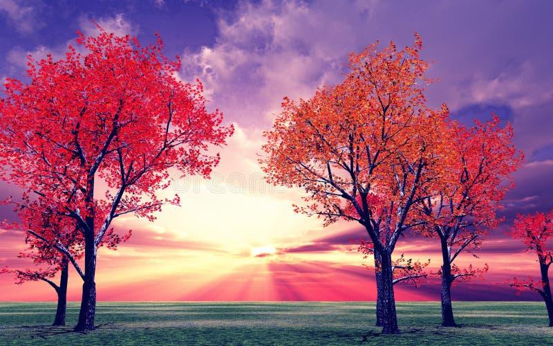 秋天风景 向量例证