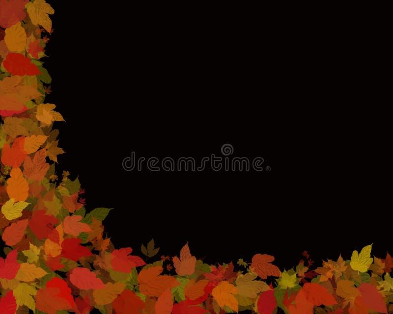秋天黑色叶子 向量例证
