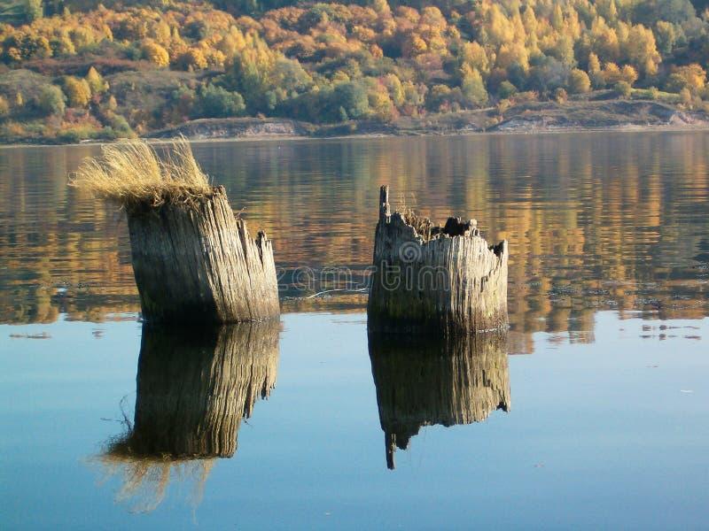 秋天,伏尔加河, Vasilsursk 库存照片