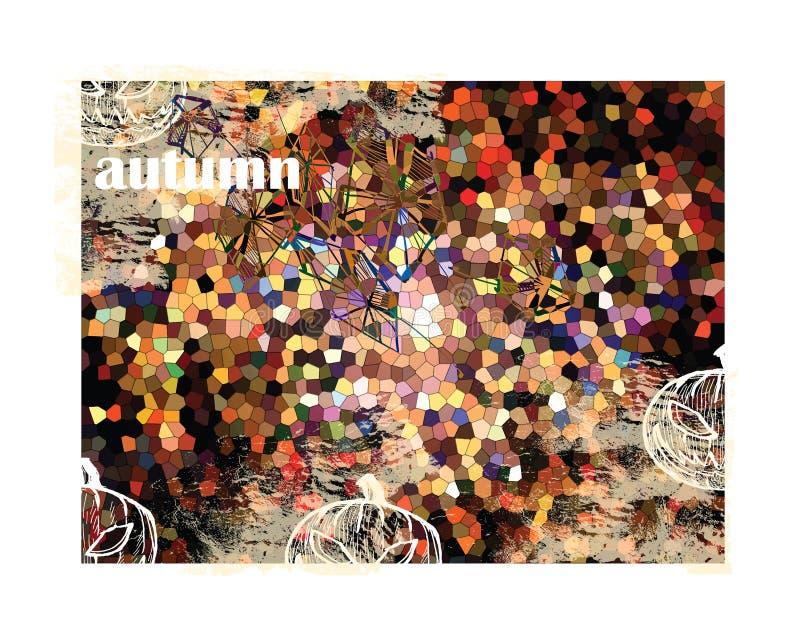 秋天-抽象背景 向量例证