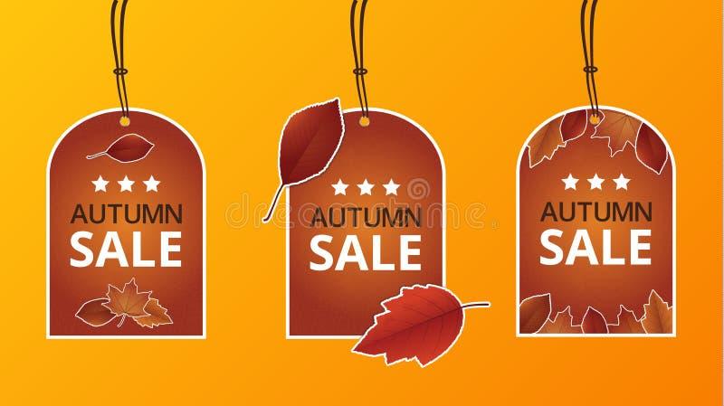 秋天价格标签 库存例证